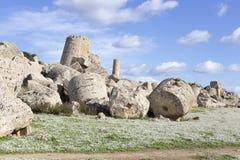 Ruinas del templo griego Imagen de archivo libre de regalías
