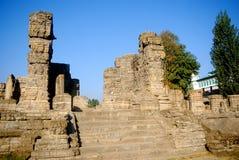Ruinas del templo hindú, Avantipur, Cachemira, la India fotografía de archivo libre de regalías