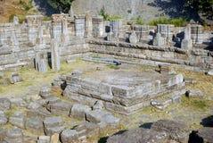 Ruinas del templo hindú, Avantipur, Cachemira, la India imagenes de archivo