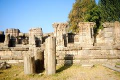 Ruinas del templo hindú, Avantipur, Cachemira, la India fotos de archivo libres de regalías