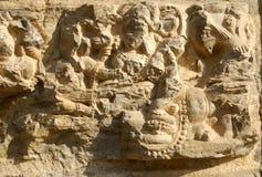 Ruinas del templo hindú, Avantipur, Cachemira, la India Foto de archivo