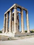 Ruinas del templo olímpico del Zeus, Grecia Fotografía de archivo