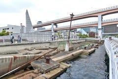 Ruinas del terremoto de Kobe Great Hanshin preservado en 1995 como recordatorio para el poder destructivo de la naturaleza en el  imagen de archivo libre de regalías