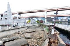 Ruinas del terremoto de Kobe Great Hanshin preservado en 1995 como recordatorio para el poder destructivo de la naturaleza en el  fotos de archivo