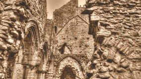 Ruinas del tono cisterciense de la sepia de HDR del monasterio de la abadía I de Netley Fotos de archivo