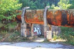 1984 ruinas del trineo de Oympic, Saravejo, Bosnia Foto de archivo libre de regalías