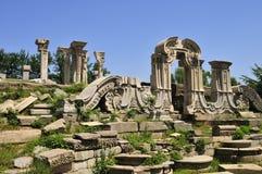 Ruinas del Yuanmingyuan en China Foto de archivo
