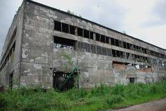 Ruinas después del bombardeo de la planta Fotografía de archivo libre de regalías