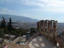 Sitio arqueológico en Atenas Fotografía de archivo libre de regalías