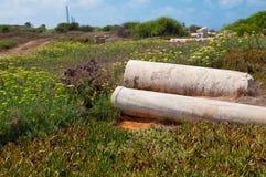 Ruinas en Caesarea Israel Fotos de archivo libres de regalías