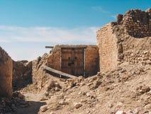 Ruinas en desierto del Sáhara fotos de archivo libres de regalías
