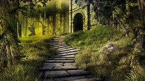 Ruinas en el bosque Imagen de archivo