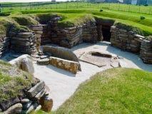 Ruinas en el Brae de Skara Imagen de archivo