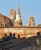 Ruinas en el capital antiguo de Tailandia Fotografía de archivo libre de regalías