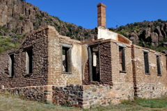 Ruinas en el fuerte Davis Imagen de archivo libre de regalías