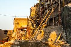 Ruinas en el Kraton cerca del área de la sari de Taman Foto de archivo