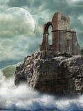 Ruinas en el mar imagenes de archivo