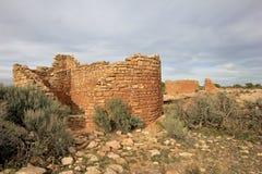 Ruinas en el monumento nacional de Hovenweep, Colorado fotos de archivo