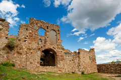 Ruinas en el Mystras griego Fotos de archivo libres de regalías