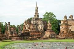 Ruinas en el parque histórico en sukhothai Imágenes de archivo libres de regalías