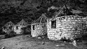 Ruinas en el parque nacional del ¡n de Huascarà Fotografía de archivo
