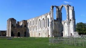Ruinas en el sitio de la abadía y de la catedral anteriores de Maillezais Erance, Imágenes de archivo libres de regalías