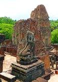 Ruinas en el templo de la pepita de Prae en Siem Reap foto de archivo