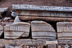 Ruinas en Ephesus Imagenes de archivo
