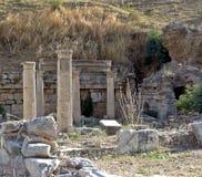Ruinas en Ephesus antiguo Imágenes de archivo libres de regalías