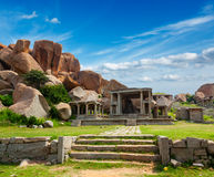 Ruinas en Hampi fotografía de archivo libre de regalías