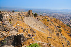 Ruinas en la ciudad antigua de Pérgamo Turquía Imagen de archivo libre de regalías