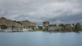 Ruinas en la mina de Rummu Foto de archivo