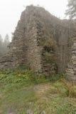 Ruinas en la niebla Foto de archivo libre de regalías