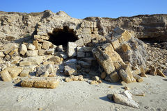 Ruinas en la playa Fotografía de archivo