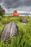 Ruinas en la playa de Connemara Fotografía de archivo libre de regalías
