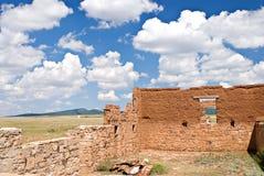 Ruinas en la unión vieja de la fortaleza, New México imagen de archivo