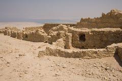 Ruinas en Masada imagenes de archivo