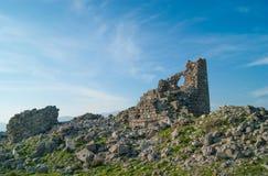 Ruinas en Pérgamo Imágenes de archivo libres de regalías