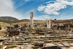 Ruinas en Pamukkale - 2 Imagen de archivo libre de regalías