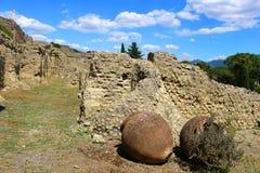 Ruinas en Pompeii Imágenes de archivo libres de regalías