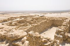 Ruinas en Qumran fotografía de archivo libre de regalías