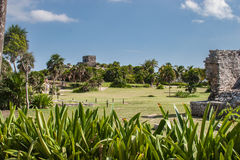 Ruinas en Tulum, México Foto de archivo libre de regalías