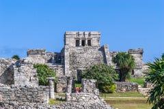 Ruinas en Tulum, México Imagenes de archivo