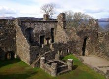 Ruinas escocesas del castillo Imagen de archivo libre de regalías