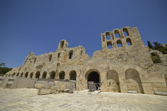 Ruinas griegas del ágora antiguo en la acrópolis en Atenas, Grecia Foto de archivo