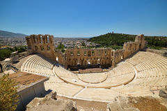 Ruinas griegas del ágora antiguo en la acrópolis en Atenas, Grecia Fotografía de archivo libre de regalías