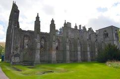 Ruinas hermosas de la abadía de Holyrood Fotos de archivo