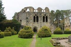 Ruinas históricas de la abadía Fotografía de archivo