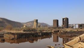Ruinas industriales Imagen de archivo libre de regalías
