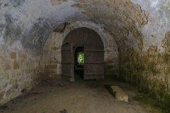 Ruinas interiores del castillo Imagen de archivo libre de regalías